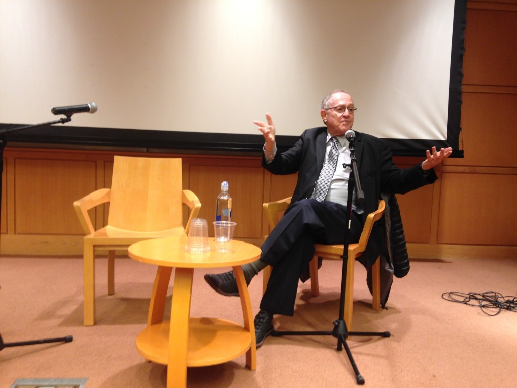 Dershowitz at Brooklyn College